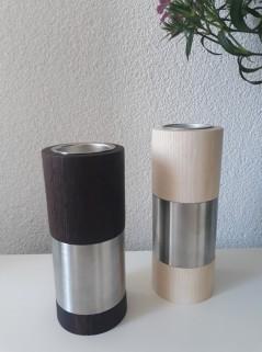 hout/rvs design accessoire
